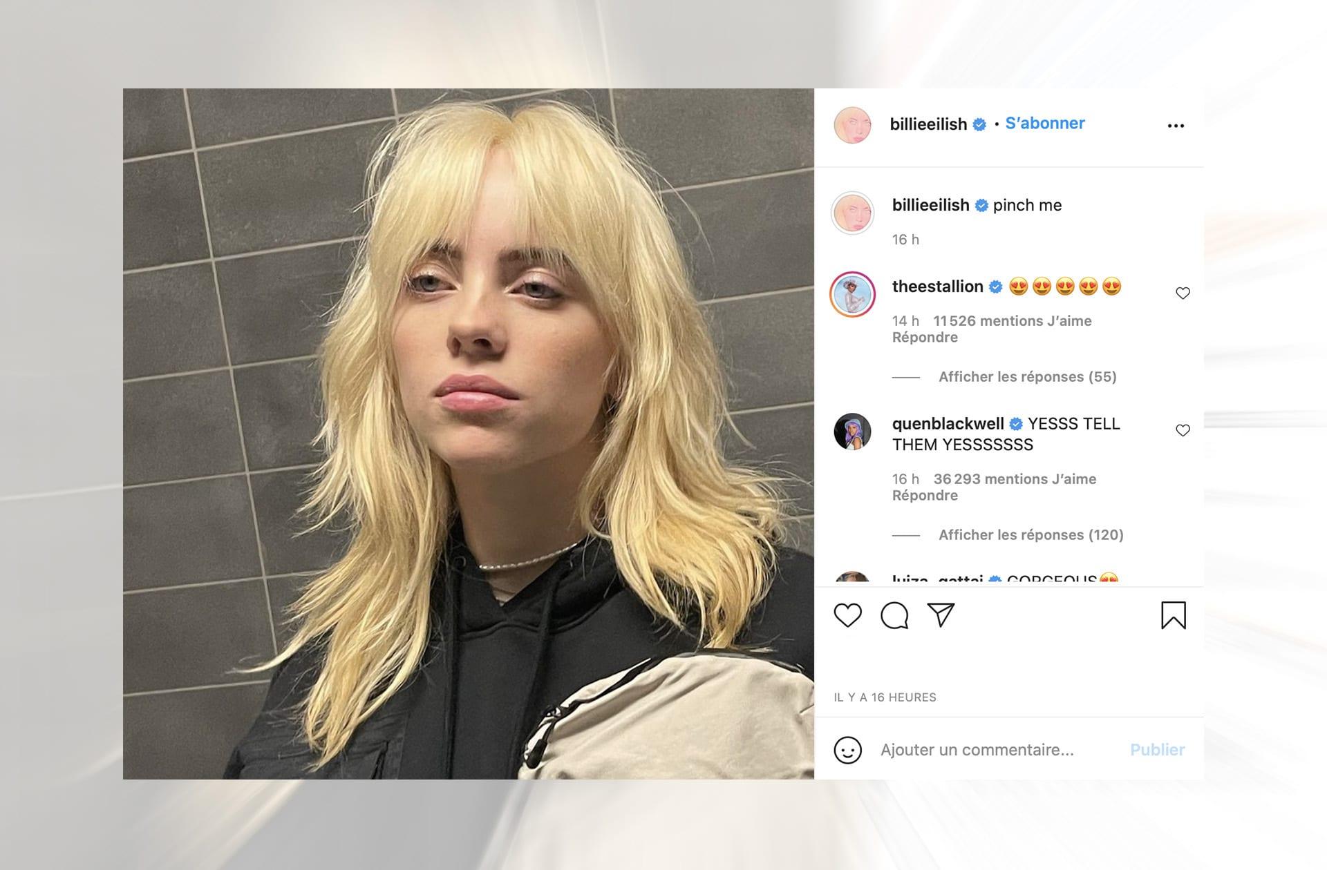 Billie Eilish change de couleur de cheveux… et casse Internet