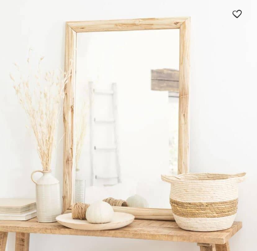 Miroir en bois clair