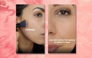 Tiens, un visage maquillé sans filtre, bizarrement… ça ressemble plus à la vraie vie
