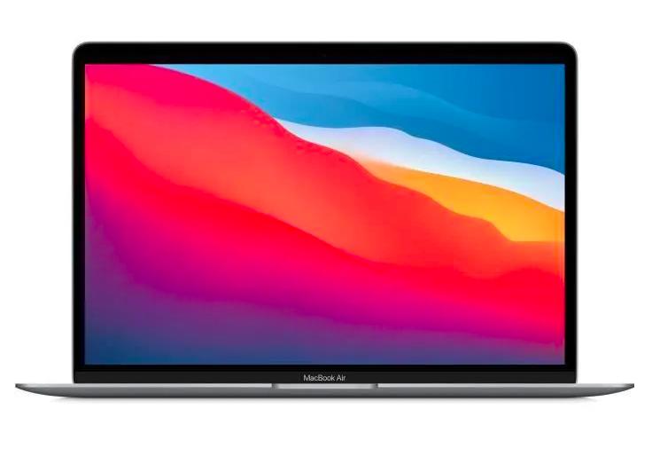 "13,3"" MacBook Air (2020) - Puce Apple M1 - RAM 8Go - Stockage 256Go - Gris Sidéral - AZERTY"