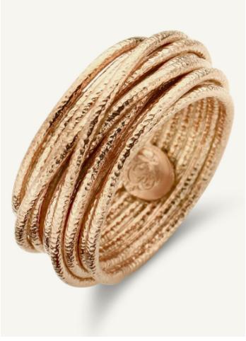 Bague satiné en plaqué or de la marque Casa Jewellery