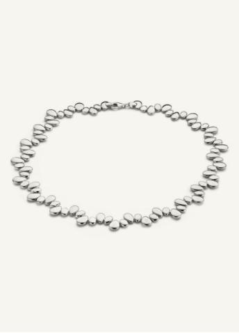 Chaîne de galets en argent de la marque Cas Jewellery