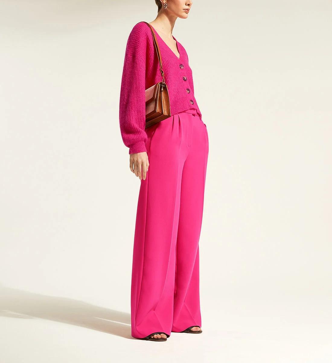 Pantalon large en polyester mélangé, Galeries Lafayette, 47,99€ au lieu de 79,99€.