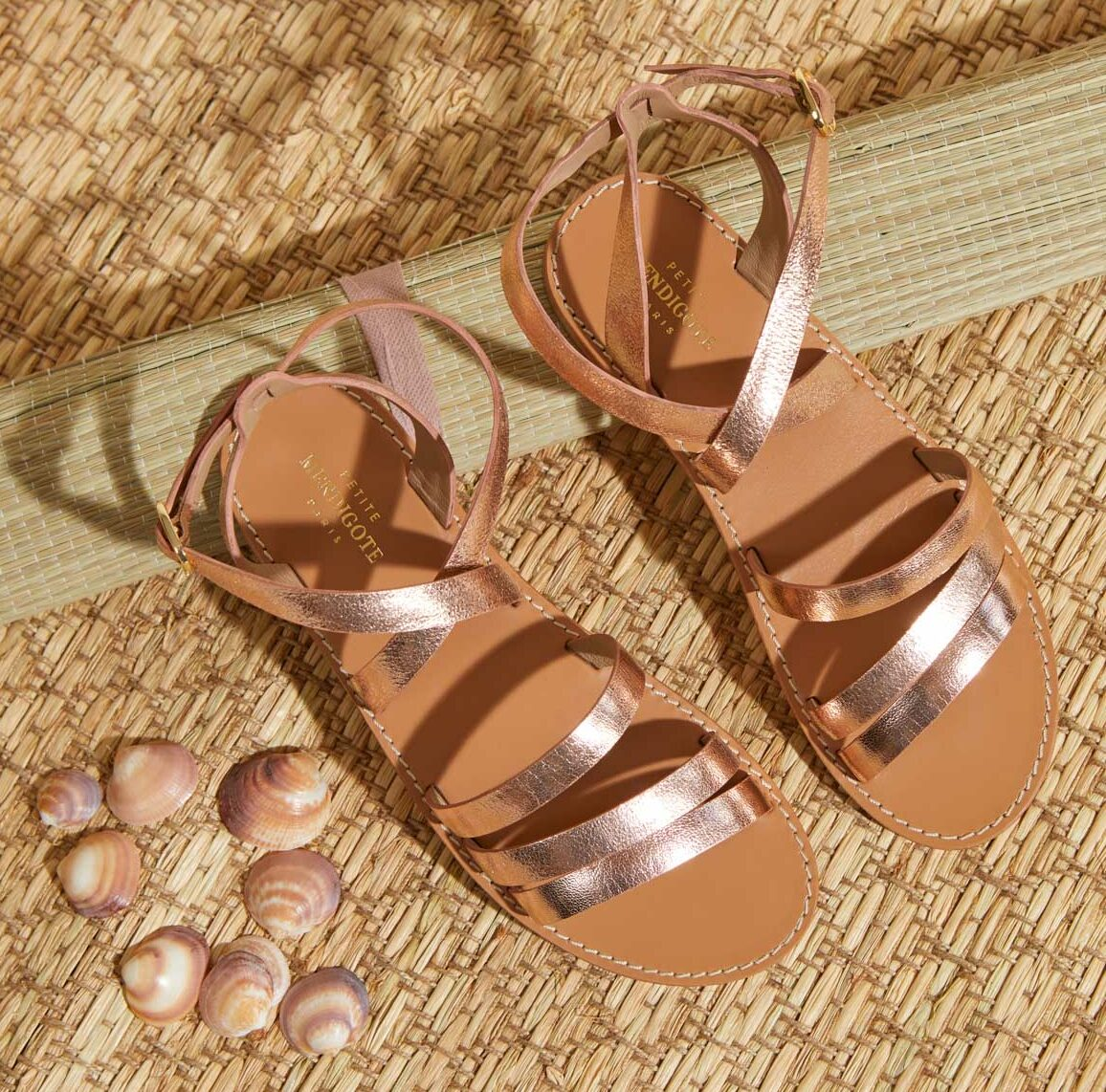 Sandales floriano, collection Plein Soleil, Petite Mendigote