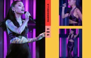 Se prendre pour Ariana Grande dans son look en satin coûterait 175€