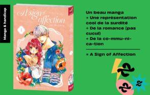 Le manga « A Sign of Affection», avec une héroïne sourde, analysée par une personne concernée