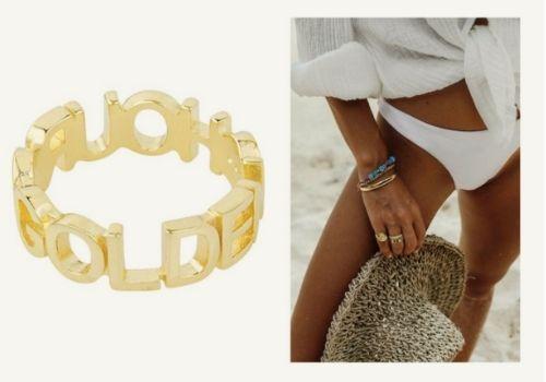 Bague dorée golden hour de la marque Wildthings