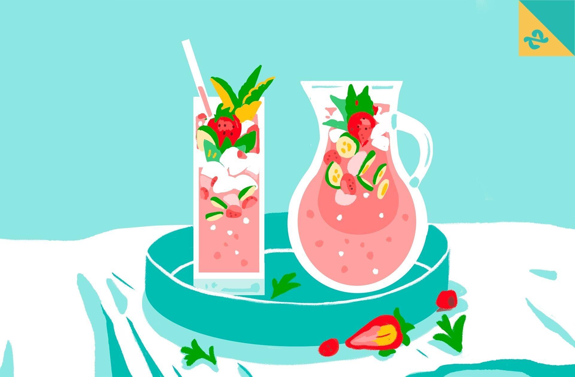 La recette de saison, édition mai:un jus de fruits rouges plein de fraîcheur