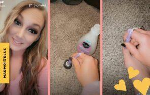 Idée de génie : une tiktokeuse enlève son vernis des pieds en utilisant… Un tampon