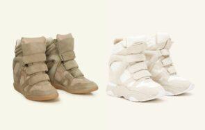 Impossibles à oublier, les baskets compensées Isabel Marant reviennent…