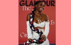 Simone Biles, en couverture du nouveau numéro de juin 2021 l'édition américaine de Glamour