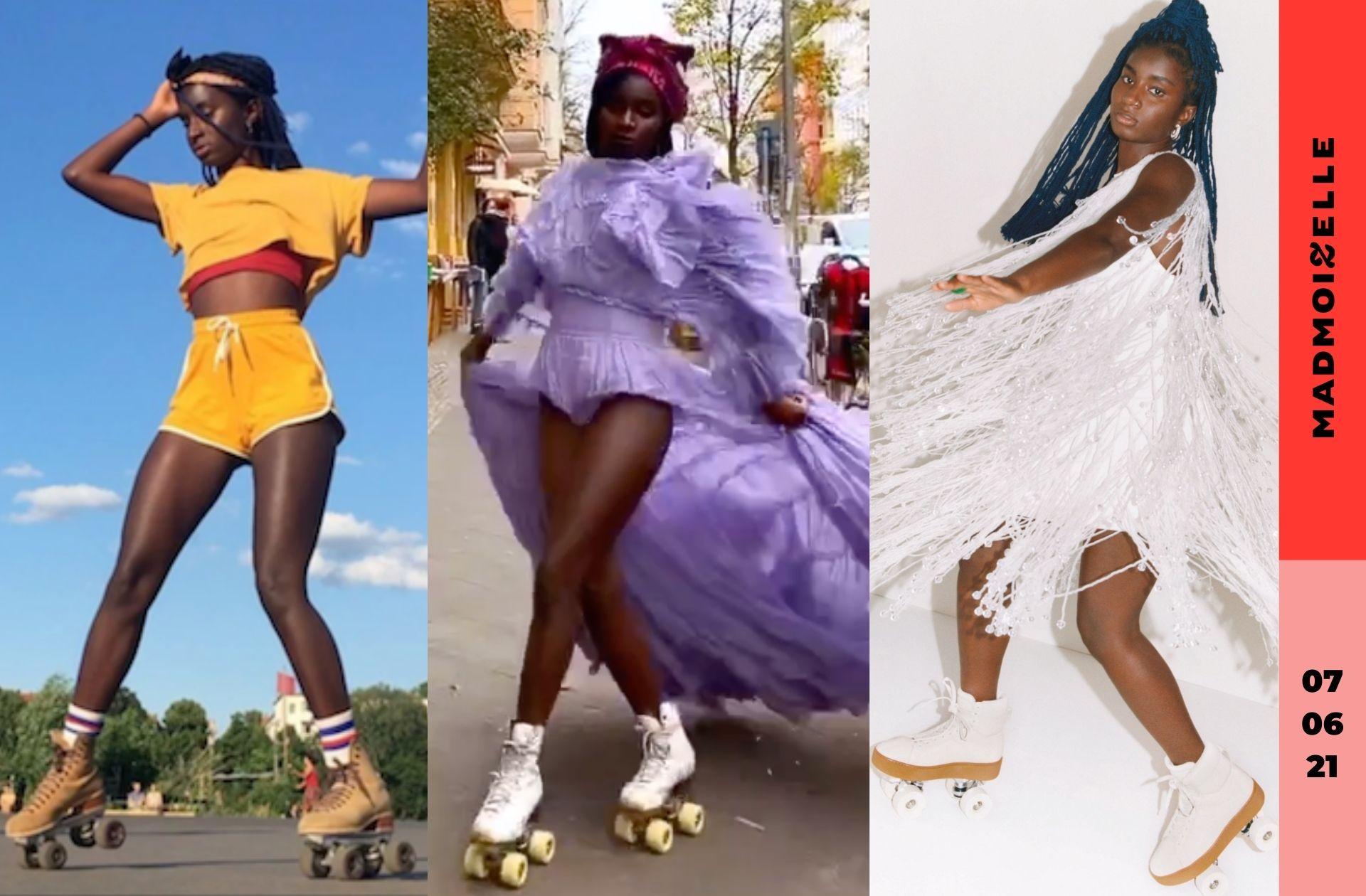 Oumi Janta, la reine du patin à roulettes qui séduit la mode