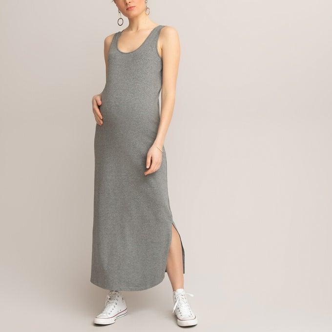 Robe débardeur de grossesse longue en maille (95% coton, 5% élasthanne), La Redoute collections, 16,99€.