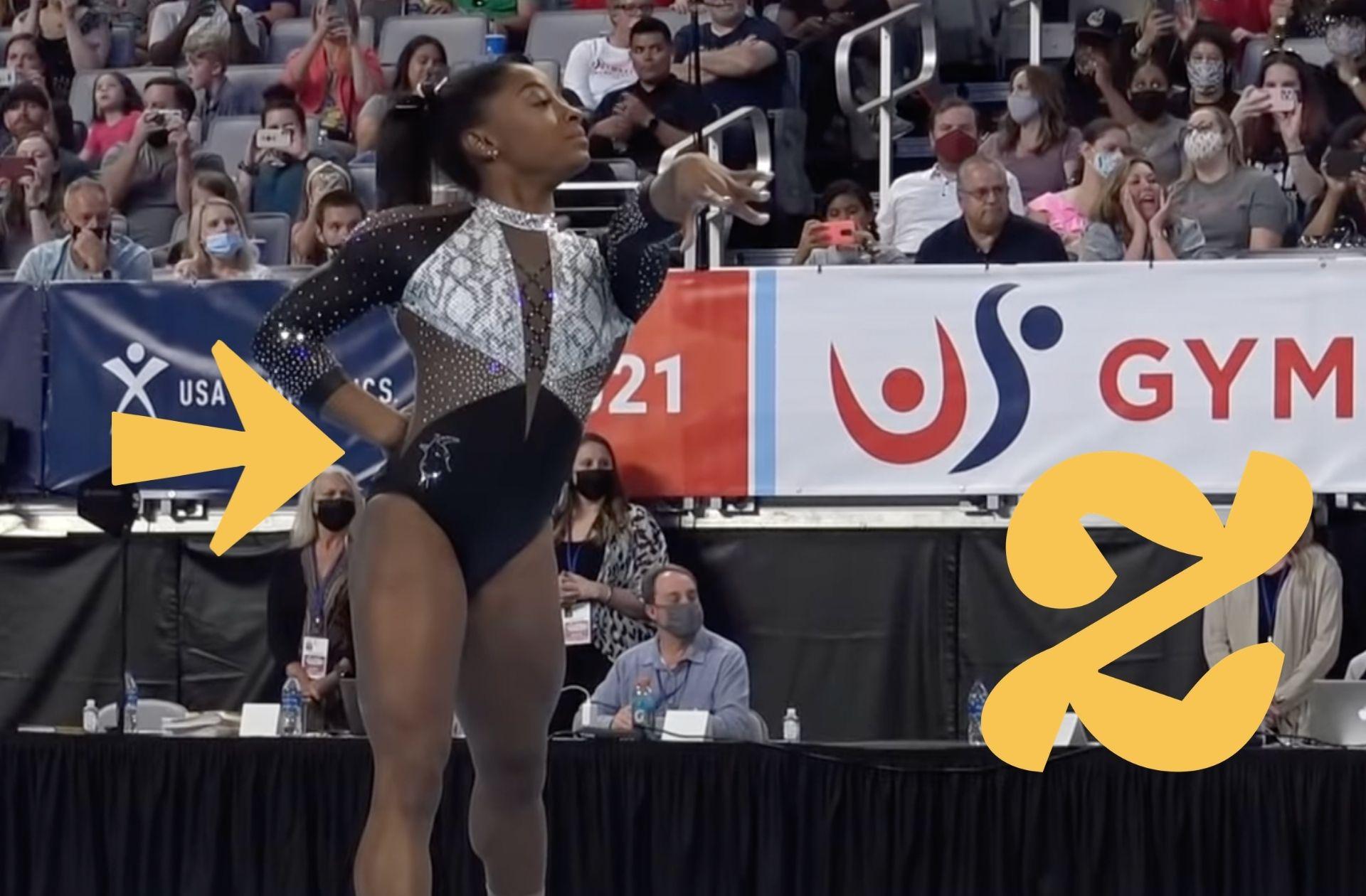 Simone Biles arbore des chèvres sur ses tenues de gymnastique